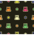Monsters - seamless pattern vector image vector image