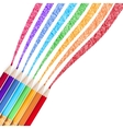 Colour pencils isolated EPS 10 vector image vector image