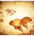 Gold Fish Grunge vector image vector image