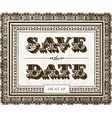 Save the Date invite vector image