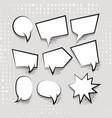comic set text empty cartoon white cloud vector image