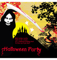 Grim reaper and the haunted castle vector image