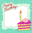 Happy birthday cake card vector image