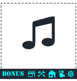 Music icon flat vector image