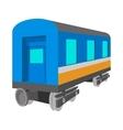 Passenger wagon cartoon icon vector image