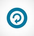 reload bold blue border circle icon vector image