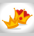 royal gold crown for king icon vector image