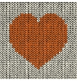 Seamless pattern with knitted heart vector image
