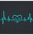 Heartbeat make family and heart symbol vector image