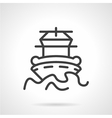 Abstract simple line icon for ship vector image
