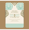 wintage wedding card vector image vector image
