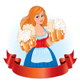 Beautiful girl with beer vector image