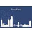 Hong Kong city skyline on blue backgrou vector image vector image