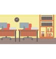 Background of office workplace vector image vector image
