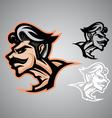 Warrior thai logo emblem vector image