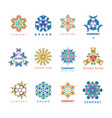abstract triangular polygonal shape kaleidoscope vector image