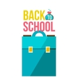Back to school poster with briefcase vector image