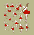 Dancer color vector image