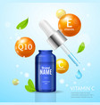 essencial oil moisturizing cosmetic products ad vector image