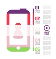 Modern minimal mobile phone infographic vector image