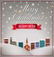 Quaint Christmas village vector image