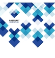 Square blue geometrical abstract background vector image