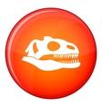 Skull of dinosaur icon flat style vector image