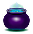magic witch kettle vector image