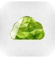 Geometric cloud paper concept vector image vector image