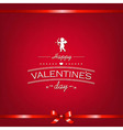 Happy Valentines Day Card With Ribbon vector image vector image