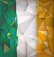 Stylized flag of Ireland vector image vector image