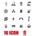 grey energetics icon set vector image vector image