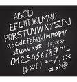 Invert hand drawn letters white brush fonts vector image
