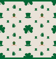 bishop mitre with shamrock seamless backdrop vector image