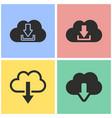 cloud computing icon set vector image