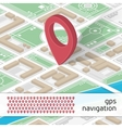 GPS with icons vector image