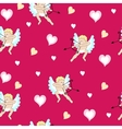 Valentine with Cherubs and Hearts vector image