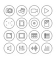 photo and video icons of thin lines vector image vector image