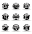 Glossy icon set 36 vector image vector image