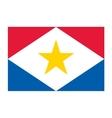Saba flag vector image
