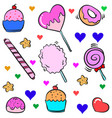 art candy various colorful doodle vector image