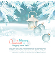Merry Christmas New Year Celebration Background vector image