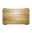 wooden board sign vector image
