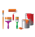 set of repair instruments vector image
