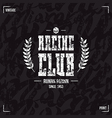 Racing club emblem and seamless pattern vector image