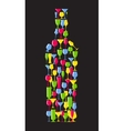 Wine Bottle From Alcoholic Glass Silhouette vector image vector image
