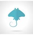 Blue stingray flat icon vector image