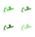 assembly realistic sticker design on paper loader vector image