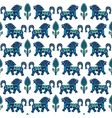blue horses vector image