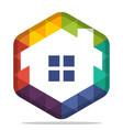 colorful hexagon logo vector image